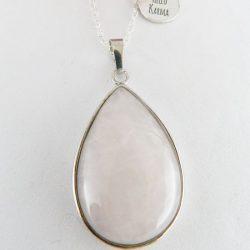 pendentif quartz rose amour