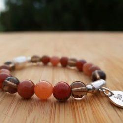 bracelet lithothérapie chakra racine