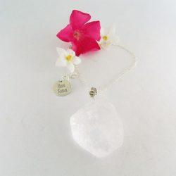 pendentif cristal de roche raw