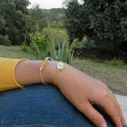 bracelet plexus solaire fin porté