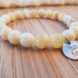 lithothérapie bracelet jaspe ivoire