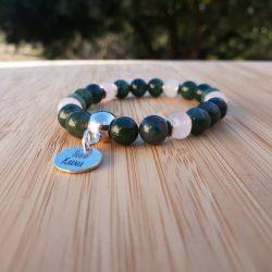 bracelet agate mousse pour le chakra du coeur