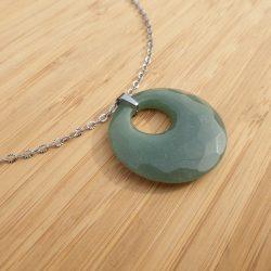 pendentif chakra du cœur aventurine