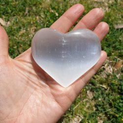 coeur selenite lithothérapie